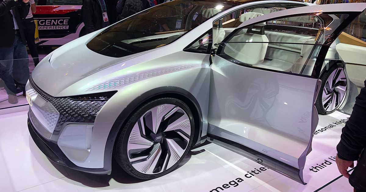 Image of an Audi concept car at CES 2020